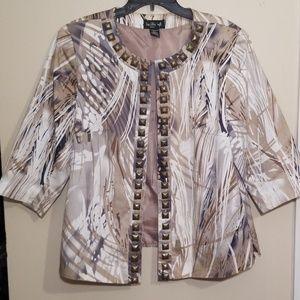 Ivy Chic   Plus Size 3/4 Sleeve Jacket   1X